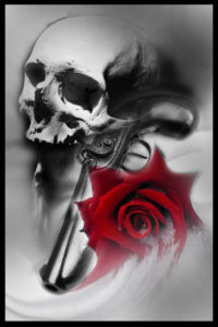 Skull and rose tattoo blakpool