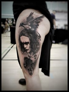 The Crow tattoo by Vitaly at Wrexhamtattooshow2018