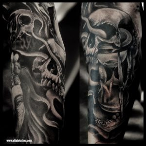 SKULL TATTOO - VITALYTATTOO BLACKPOOL