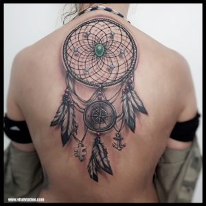 dream catcher tattoo by vital-blackpool