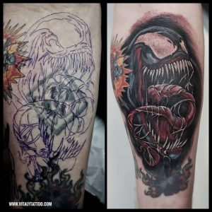 venom tattoo-blackpool