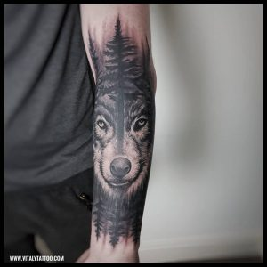 wolf tattoo-blackpool