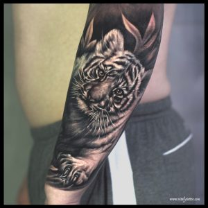 tiger cub tattoo-sheffield