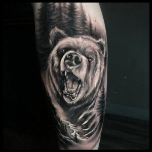 bear leg tattoo